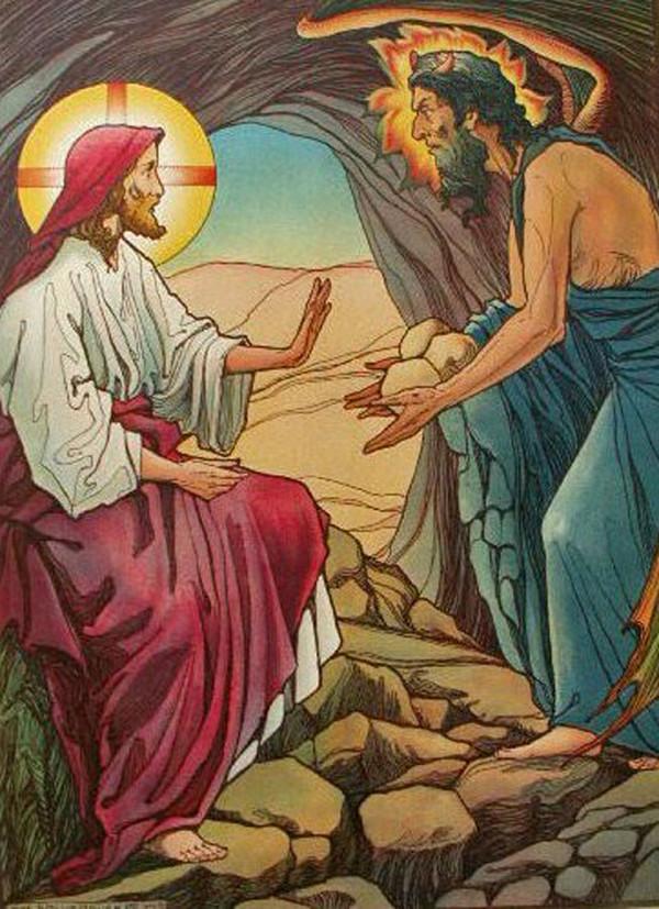 Image result for jesus wilderness bread